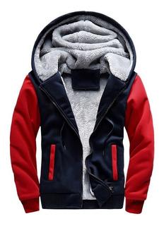 Casaco Capuz Jaquetas Camisas Masculinas Vermelha