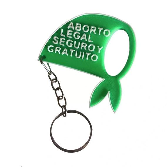 Llavero Aborto Legal Seguro Y Gratuito, Pañuelo Verde 5cm