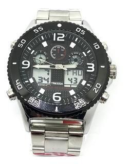 Reloj Tressa Cilic Hombre Analogo Y Digital Luz Sumergible