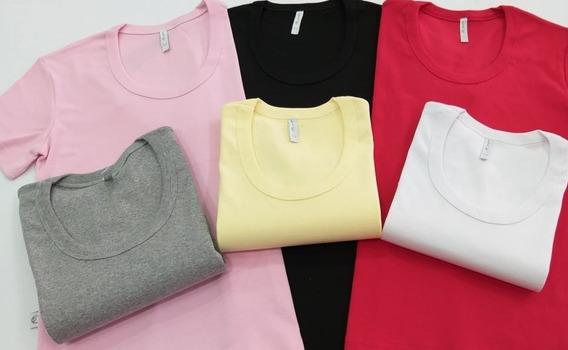 Camiseta Mujer X3 Unidades Algodón C/ Redondo M/corta Lisa