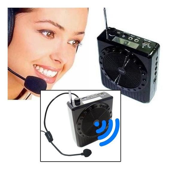Megafone Amplificador Voz Microfone Professor Kit 13 Peças