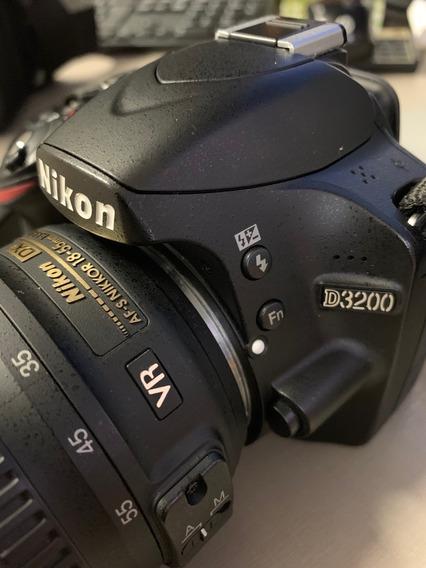 Câmera Dslr Nikon D3200 - Lente Af-s 18-55mm