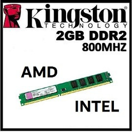 Memoria Kingston Ddr2 2g 800mhz P/ Amd E Intel Frete Gratis