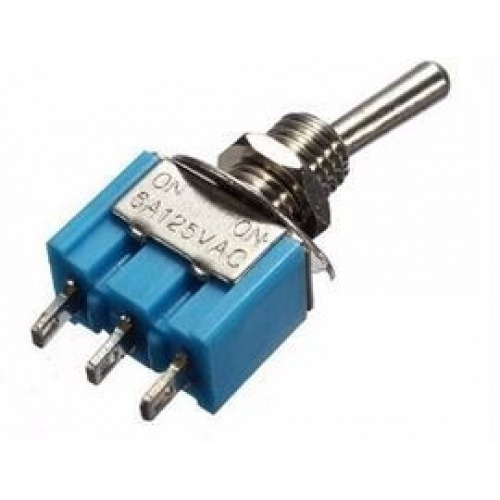 Nuevo Mini 6A 125V AC SPDT MTS-102 3Pin 2 posición en-en Interruptor de palanca