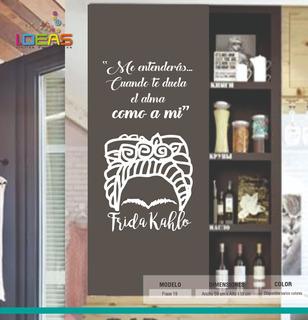 Vinilo Decorativo Frase Frida Khalo Sticker De Pared Calcomania 59x115cm