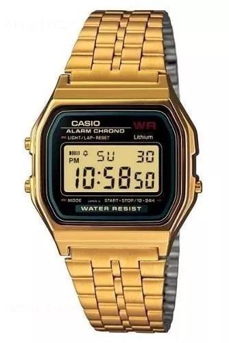 Relógio Casio Cassio Retro Dourado Prata A168 Top