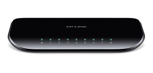 Imagen 1 de 7 de Switch Tp-link 8 Bocas Gigabit Ethernet Tl Sg 1008d