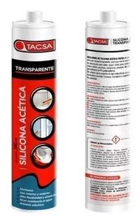 Sellador Silicona Acética Transparente 280ml Tacsa 061710