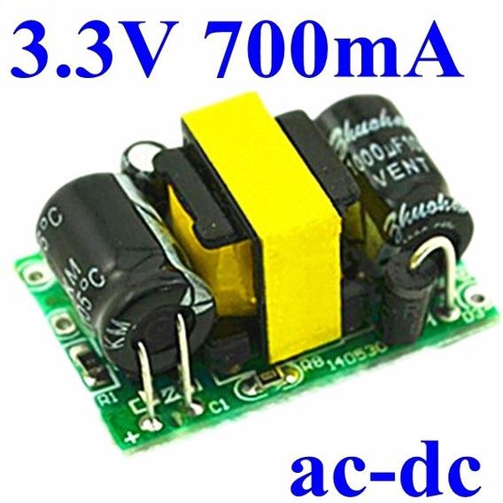 Fonte Conversor Ac-dc Buck Step Down 3.3v 2.3w 700ma Arduino