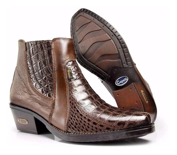 Bota Botina Masculina Country Texana Jacare Capelli Boots