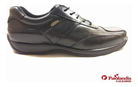 Zapatos Hombre Oxigeno Off Cordon Cuero Negro N° 39 / 45