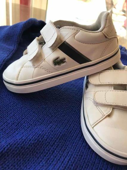 Zapatillas Lacoste Cuero Niño Original Importado