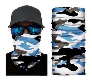 Bandana Tipo Buff Mascara, Ciclismo, Outdoor Camo Azul S181