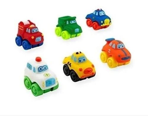 Imagen 1 de 2 de Autos Bruin Mini City Soft Cars Toysrus