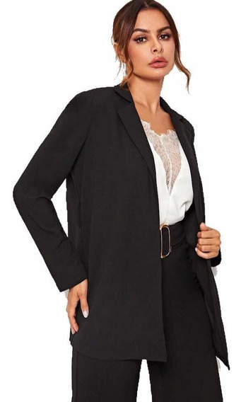 Blazer Largo Mujer Saco Blazer Dama Moda