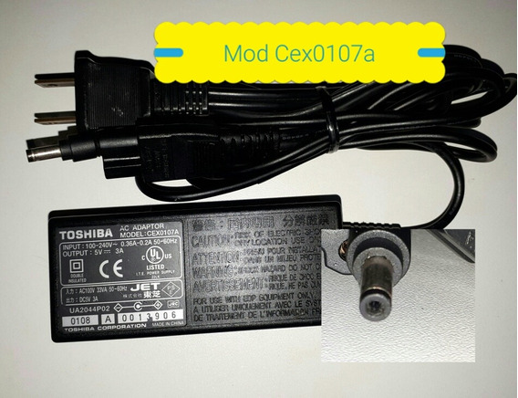 Carregador Toshiba Mod Cex0107a Original 5v =3a 100-240v