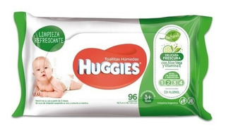 Huggies Wipes Verde 96 Toallitas Humedas X 12 Paquetes