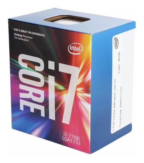 Processador Intel Core I7-7700 Kaby Lake, Cache 8mb, 3.6ghz