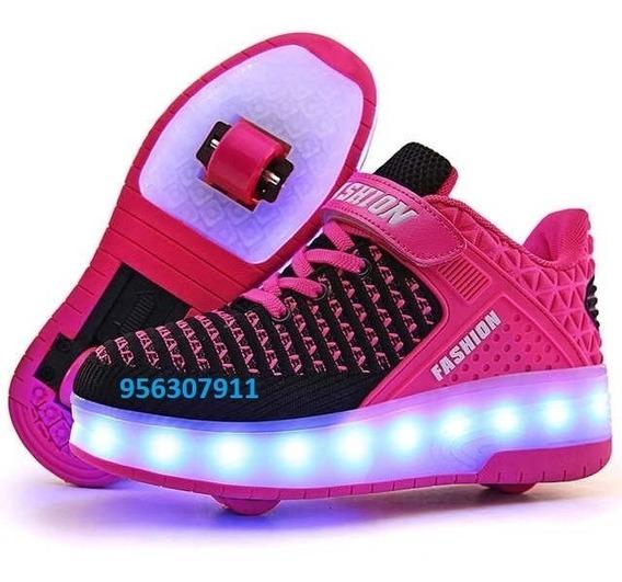Oferta !!zapatillas Con Luces Led Y Ruedas !!