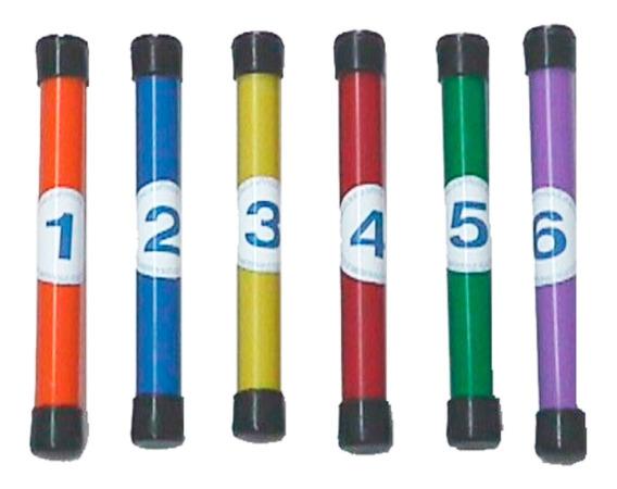 Aqua Club Sticks Numerados Sumergibles X 6 Para Pileta