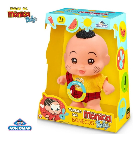Boneco Cascão Turma Da Mônica Baby - 415 Adjomar