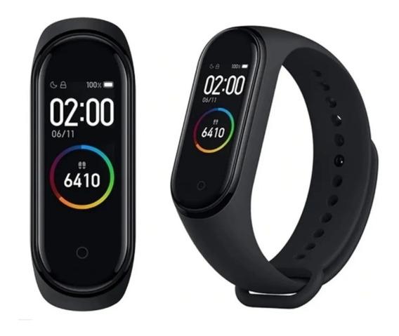Kit 2 Pulseira Relógio Inteligente Smartband M4+ 2 Películas