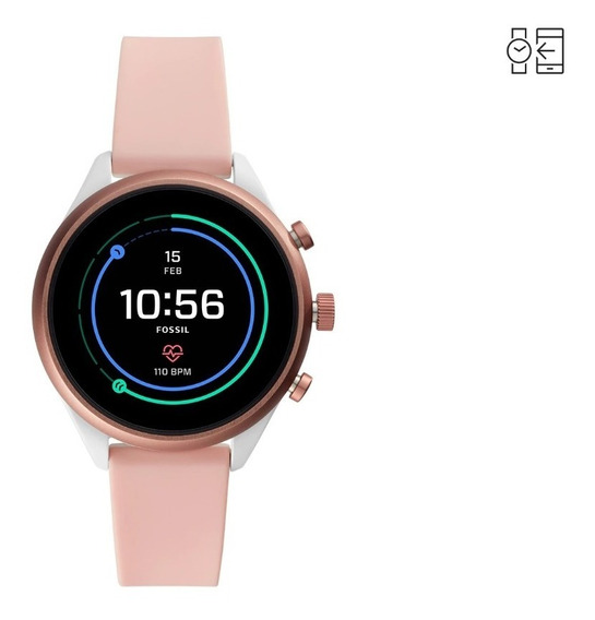 Smartwatch Fossil Sport 41 Ftw6022 Rosa Nuevo