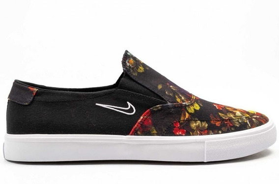 Zapatillas Nike Sb Portmore Slip Solarsoft Panchas Floreadas