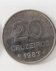 Moeda 20 Cruzeiros 1983