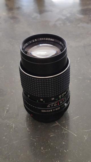 Lente Super Albinar 135mm F2.8 Canon Fd Manual