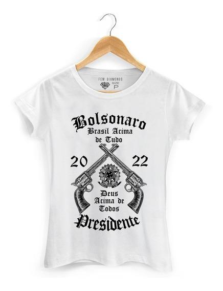 Camiseta Feminina Bolsonaro Presidente 2022 Politica