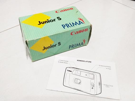 Caixa Original Câmera Canon Júnior S