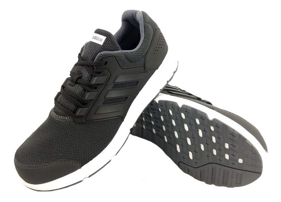 Zapatillas adidas Galaxy 4 Gris Negro Running Full Eezap