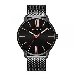 Relógio Masculino Curren Analógico 8238 Preto E Dourado