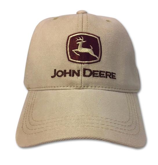 Gorro John Deere Beige Con Marrón