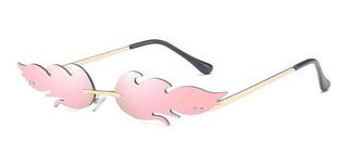 Flame Sunglass - Gafas De Sol Sin Montura, Diseño De Ondas