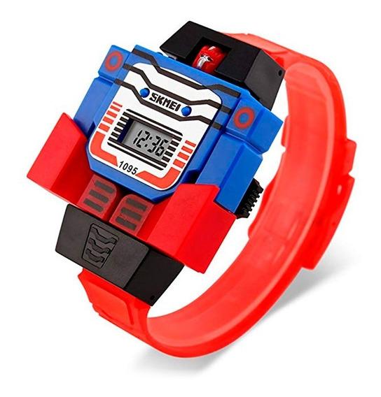 Skmei Reloj Niño Digital Diseño Robot Hora Fecha Modelo 1095