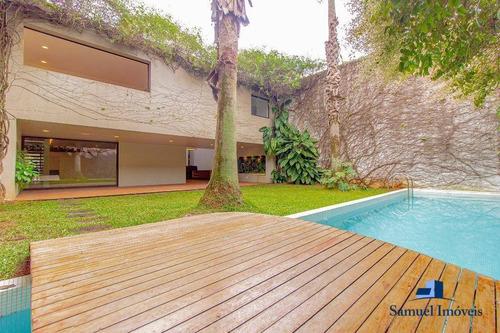 Casa Com 4 Suítes À Venda, 550 M² Por R$ 15.490.000 - Vila Nova Conceição - São Paulo/sp - Ca0466