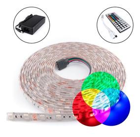 Kit Completo Tira Led Rgb 5050 Fuente Control 44 Botones @tl