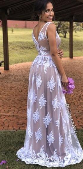 Vestido Noiva Tule Bordado