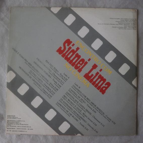 Lp Encontro Com Sidnei Lima No Cinema 1981, Disco De Vinil