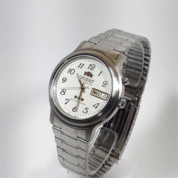 Relógio Automático Orient 469wa1a Cromado Fundo Branco