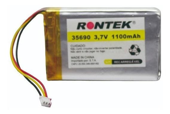 Bateria 3.7v 1100mah Lítio Polímero Com Pcm 35690