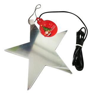 Estrella 21cm Decorativa Navideña Con Luz Ref. 19210-sla