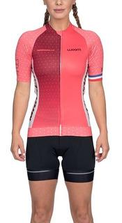 Camisa De Ciclismo Feminina Woom Supreme Modelo 2020