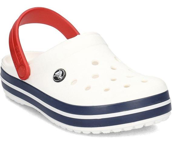 Crocs Crocband - White/ Blue Jean