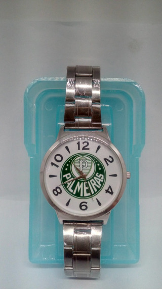 Relógio De Pulso Palmeiras Original Pulseira De Metal