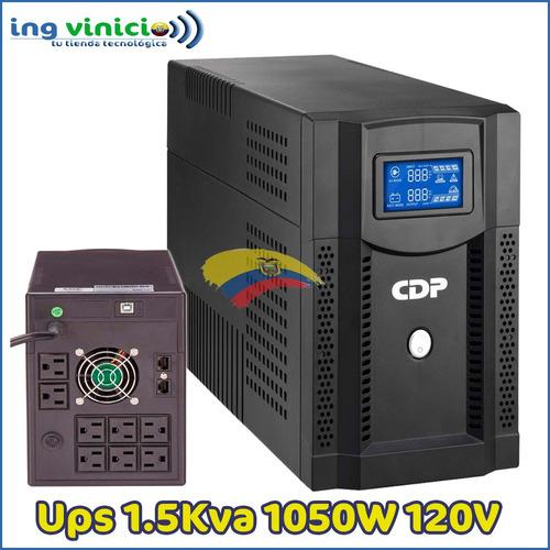 Ups Cdp Upr-s1508 1050w Lcd 8 Tomas 120v Regulador D Voltaje