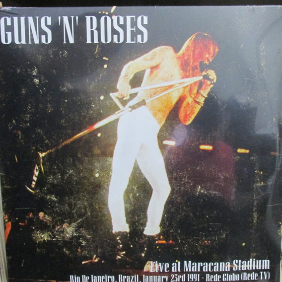 Lp Guns ´n` Roses Live At Maracana Stadium Duplo Novo Lacrad