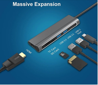 Adaptador Hub Usb Macbook Hdmi 4k Samsung S9 S10 Dex